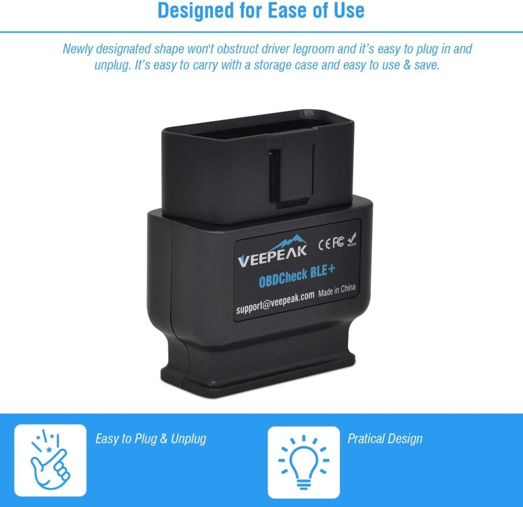 Veepeak OBDCheck BLE+ is designed for ease of use.