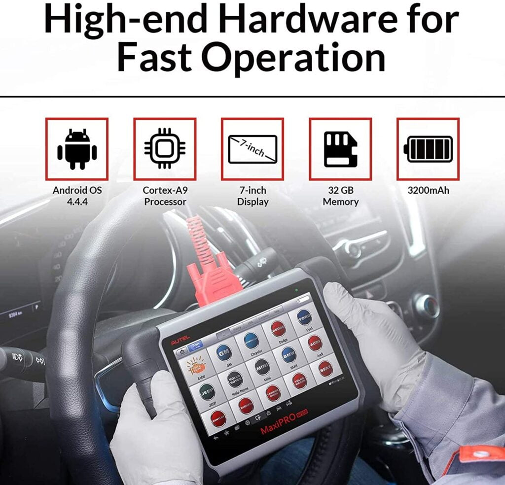 Autel MaxiPRO MP808 offers high-end hardware for fast operation.