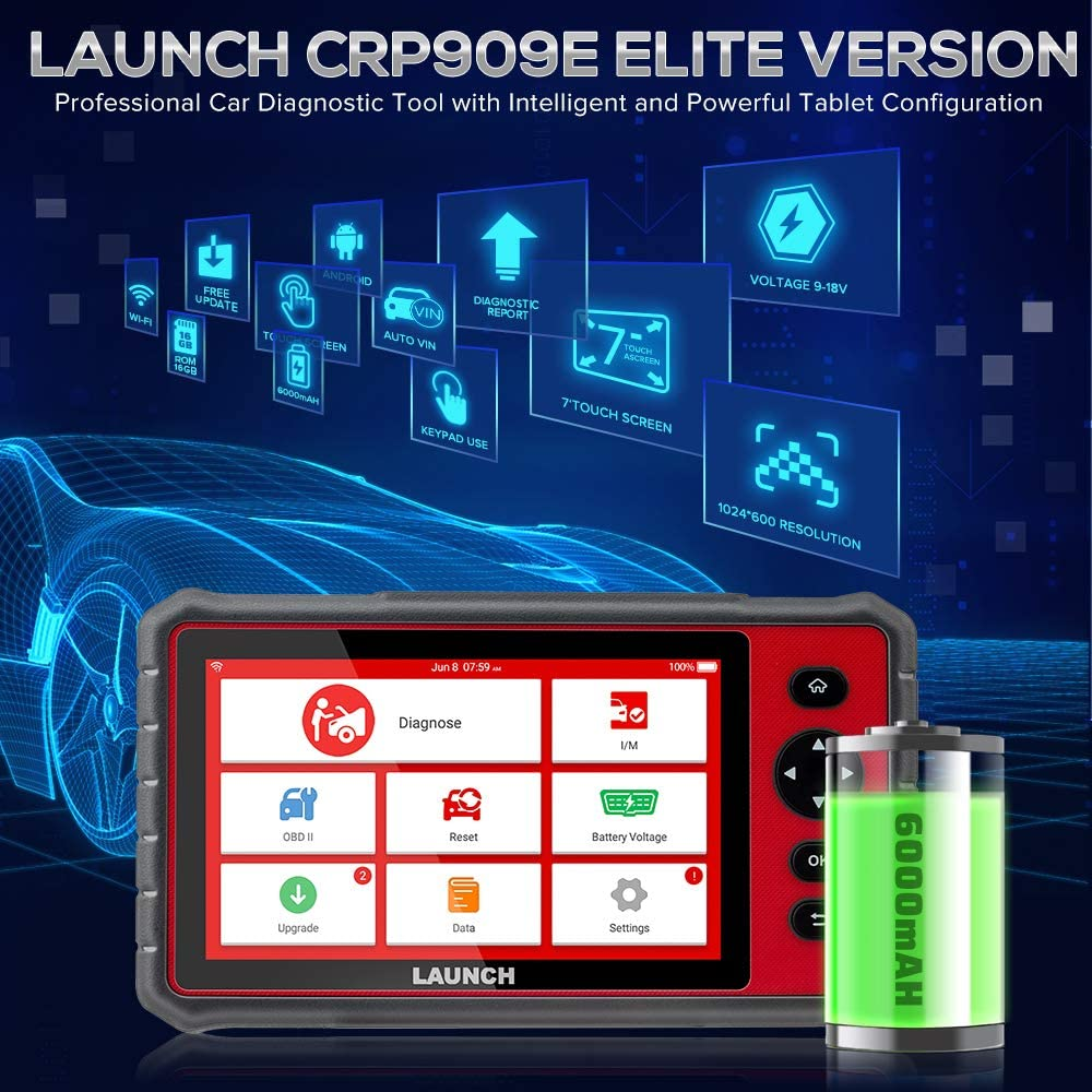 LAUNCH CRP909E has many  functions