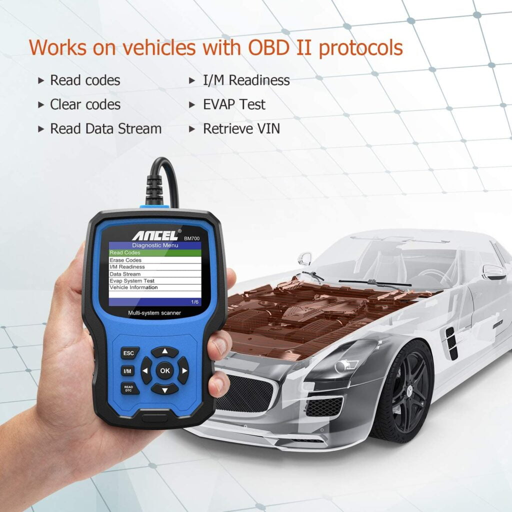 ANCEL BM700 works on vehicles with OBD II protocols