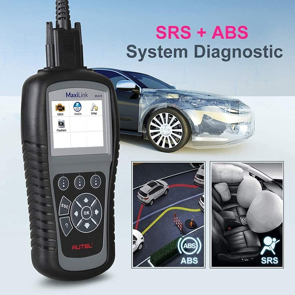 Autel ML619 will help you diagnose SRS and ABS.