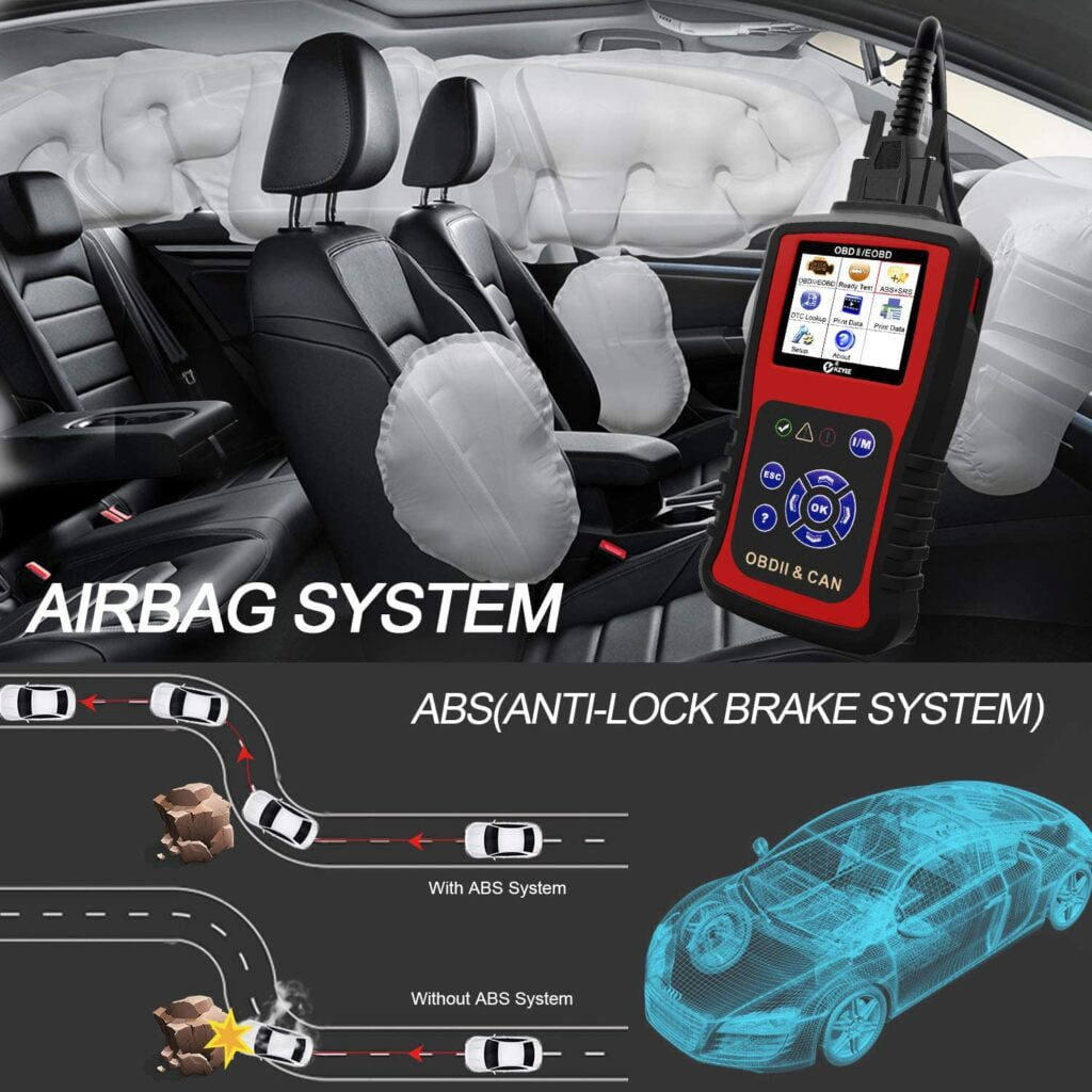 KZYEE KC501 helps diagnose airbag and ABS