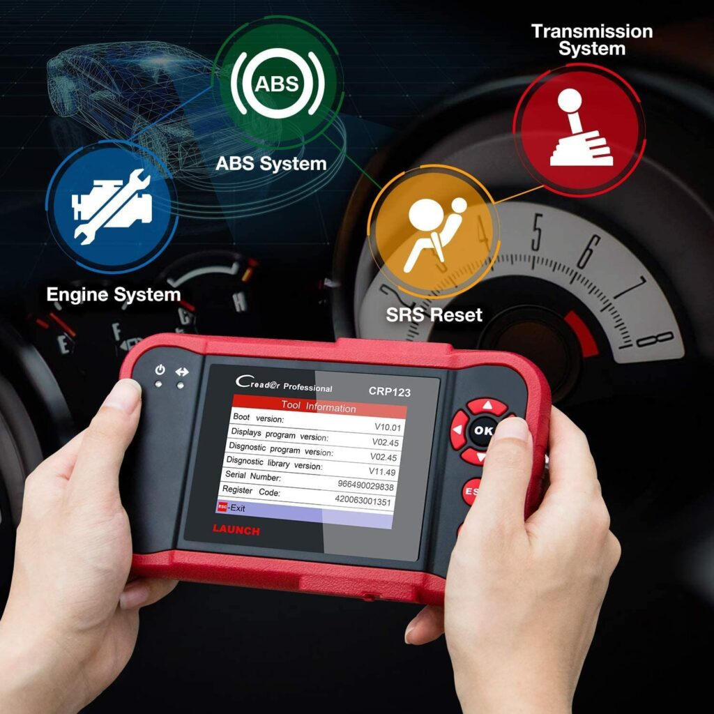 LAUNCH CRP123 offers 4 systems diagnosis.