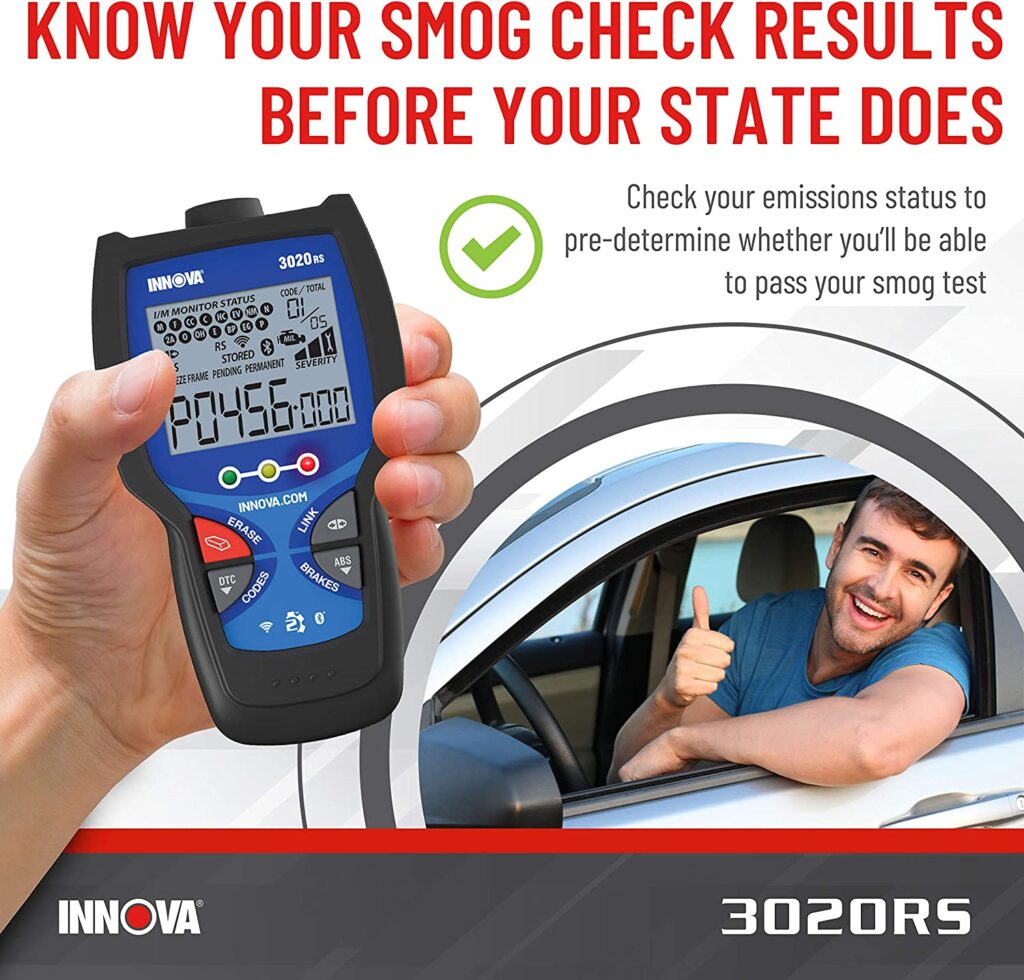 INNOVA 3020RS quickly checks your emissions status.