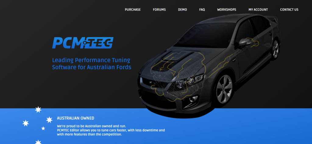 PCMTec is a tuning software for Australian Fords.