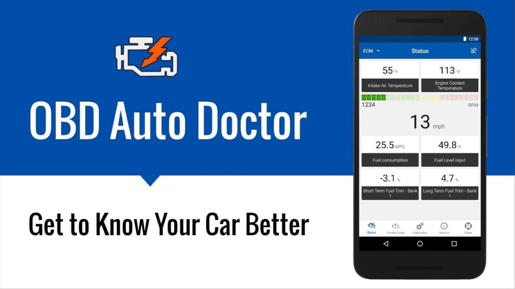 OBD Auto Doctor reads, clears, and resets car trouble codes easily.