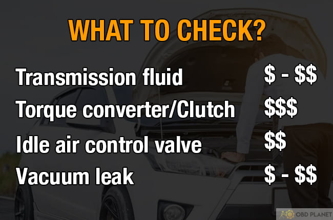 things to check and cost when car shuts off when put in drive or reverse