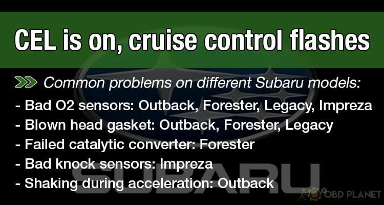 common problems on different Subaru models